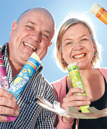 ACCOLADE: Tasman Bay Food Group general manager Martyn Barlow and marketing manager Marina Hirst Tristram won the best frozen product with their Juicies product. Image source: Nelson Mail.